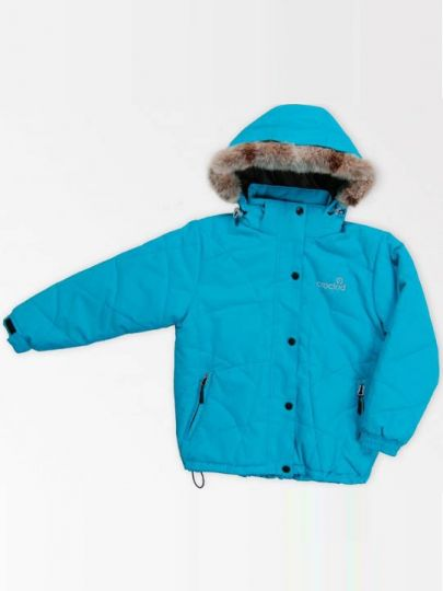 Зимняя куртка, бирюза