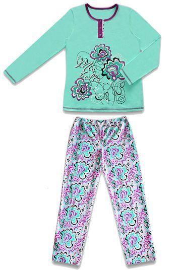 Пижама для девочки Пионы