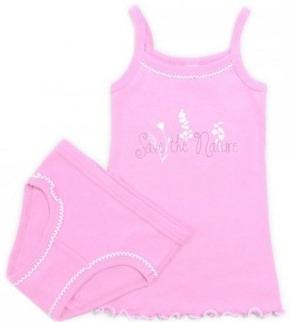 Розовый комплект белья для девочки (Размер: 92)