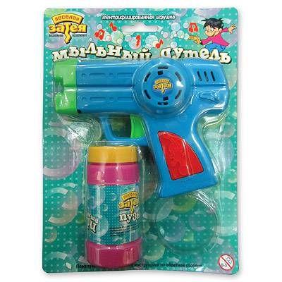 Игрушка с мыл пузырями Пистолет музык