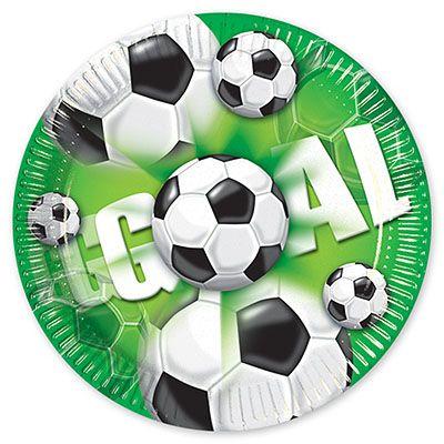 Зеленые тарелки Футбол, 20 см