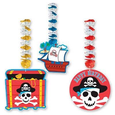 Фигурки на пружинке Пираты, 3шт