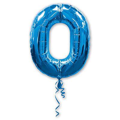 Шар-фигура Цифра 0 Синяя