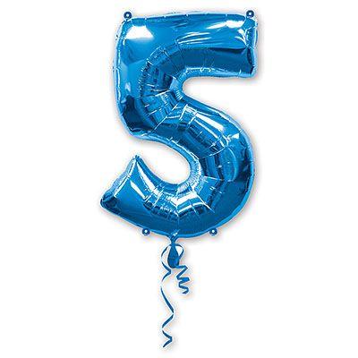 Шар-фигура цифра 5 Blue