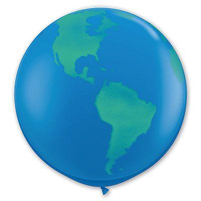 Большой шар с рисунком земного шара, 90 см.