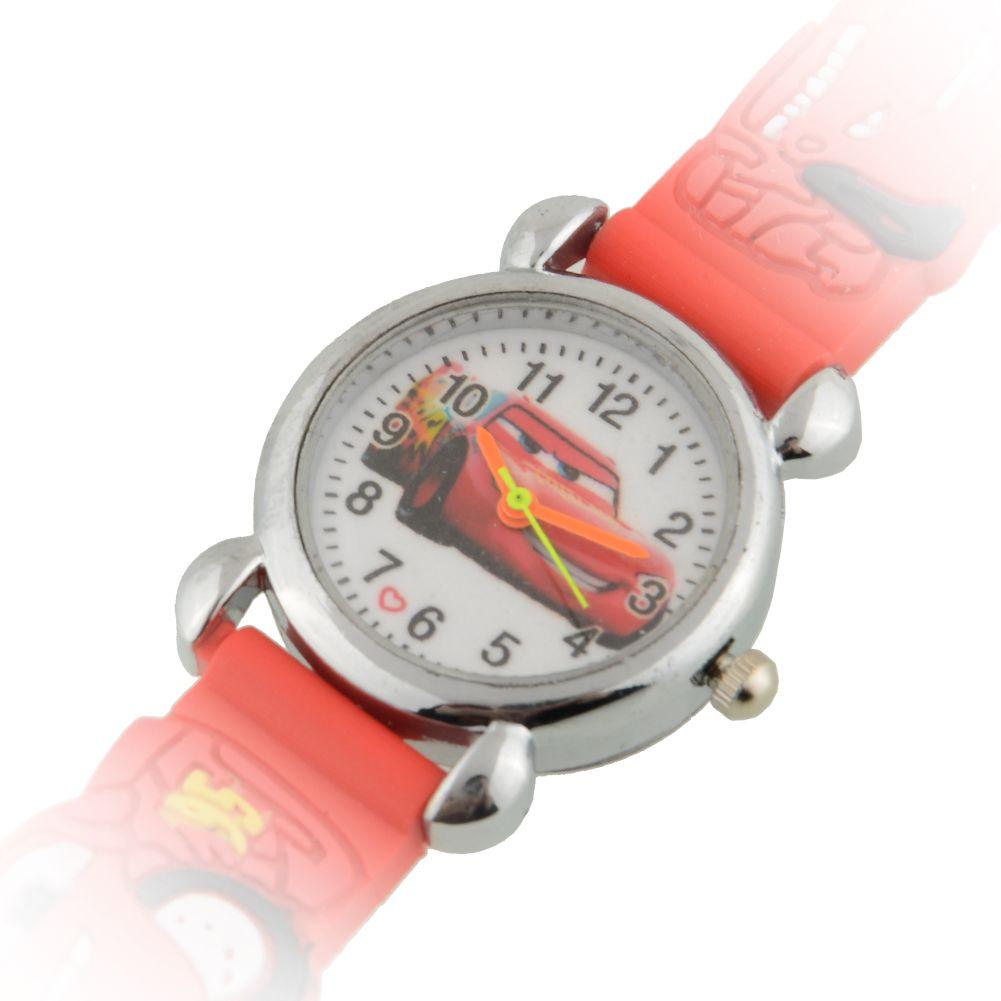 Купить силиконовые наручные часы Молния Маккуин красного цвета