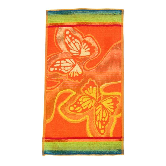 Махровое полотенце с бабочками