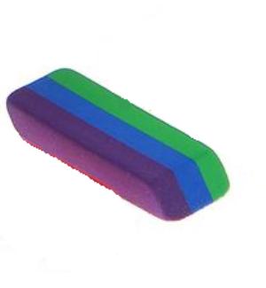 Ластик прямоугольный разноцветные полоски