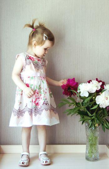Платье для девочки Розовый бант