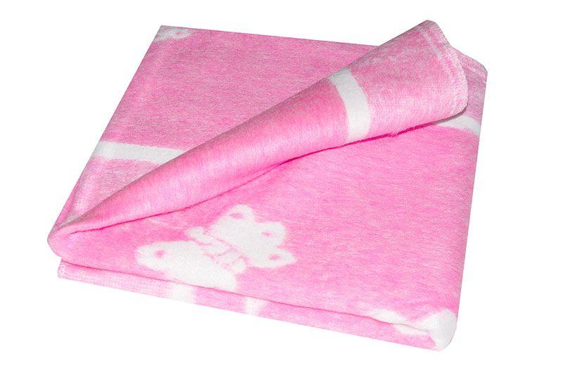 Байковое одеяло для девочки 118х100