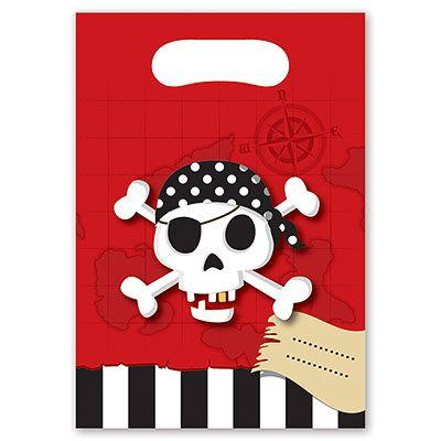 Пакеты для сувениров Пираты, 6 штук