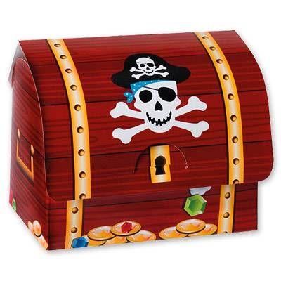 Сундук Пирата бумажный, 6 шт.