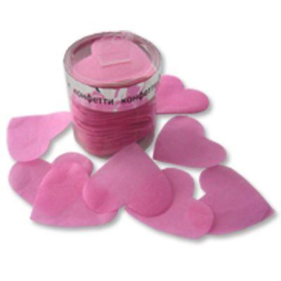 Конфетти Сердца бум негор розовые, 60г