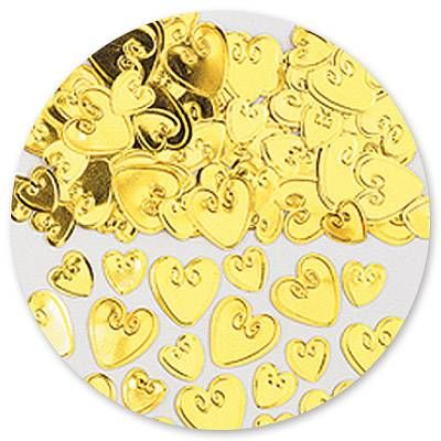 Конфетти Сердца с вензелем золот 14гр