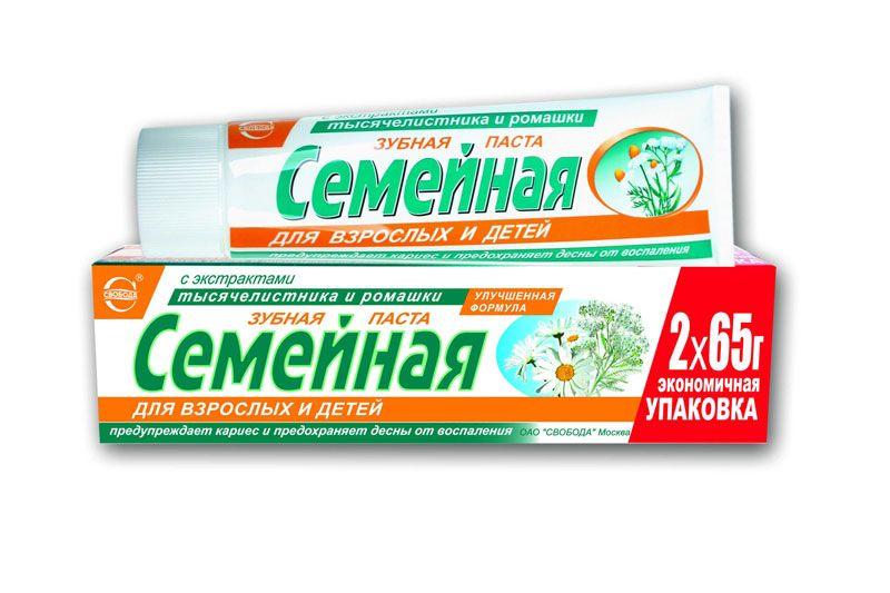 Зубная паста Семейная с экстрактом тысячелистника и ромашки