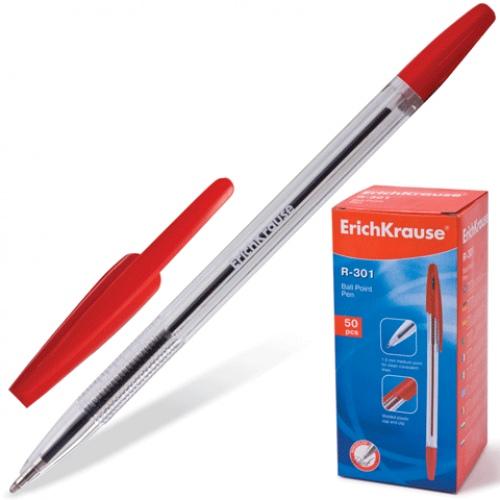 Красная шариковая ручка