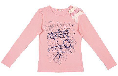 Джемпер для девочки цвет светло-розовый