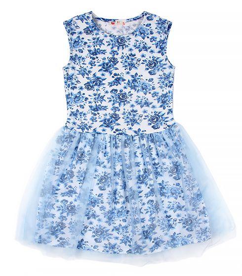 Нарядное платье для девочки голубое