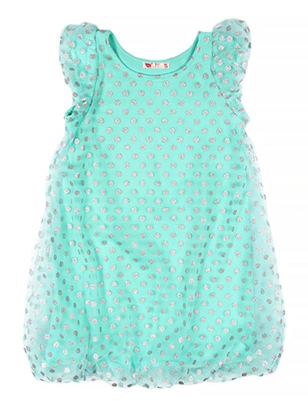 Нарядное платье для девочки бирюзовое