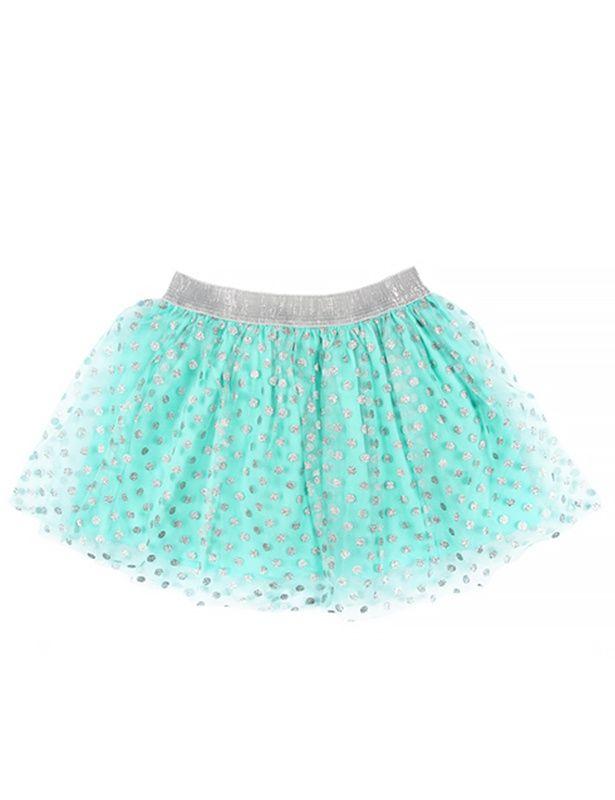 Нарядная бирюзовая юбка для девочки