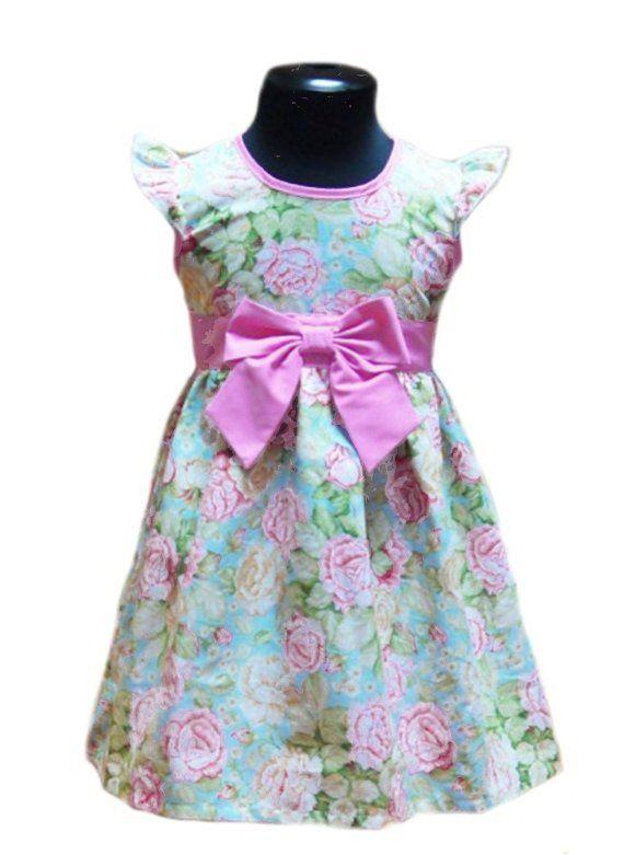 Платье для девочки Розовый пион