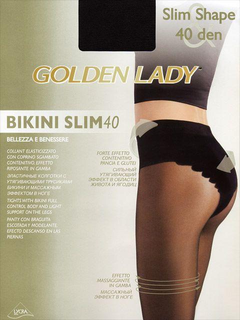 Черные женские колготки Golden Lady на размер 4