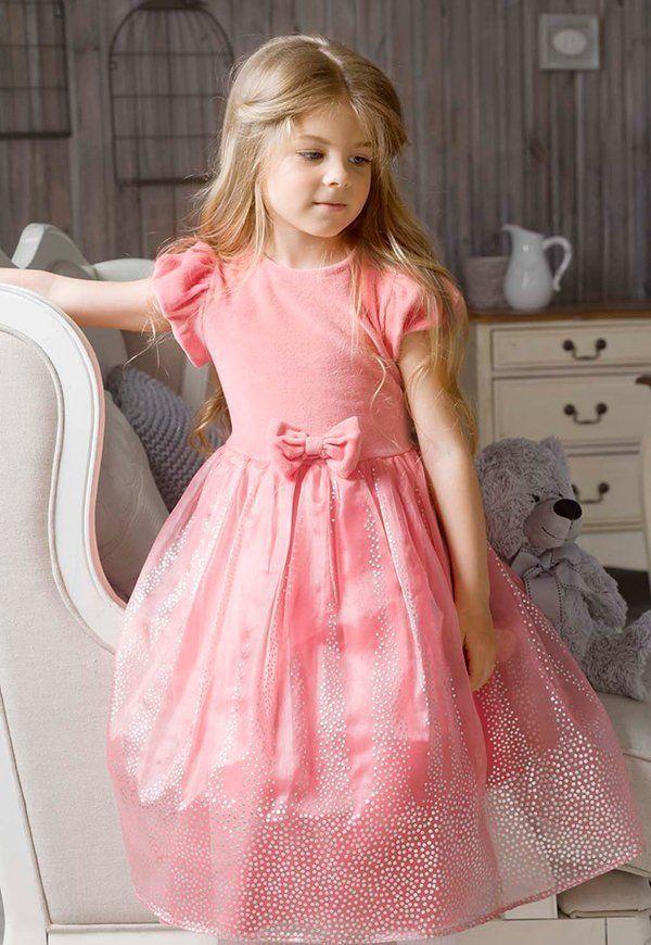Мягкое платье для девочки 5 лет