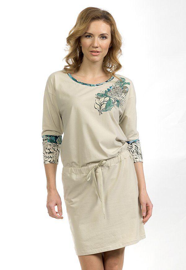 Платье женское бежевого цвета
