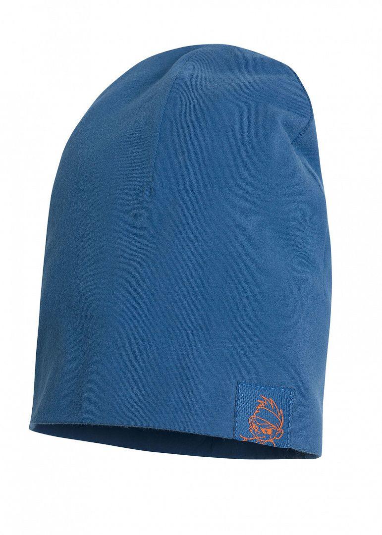Синяя шапка для мальчика на размер 52-53