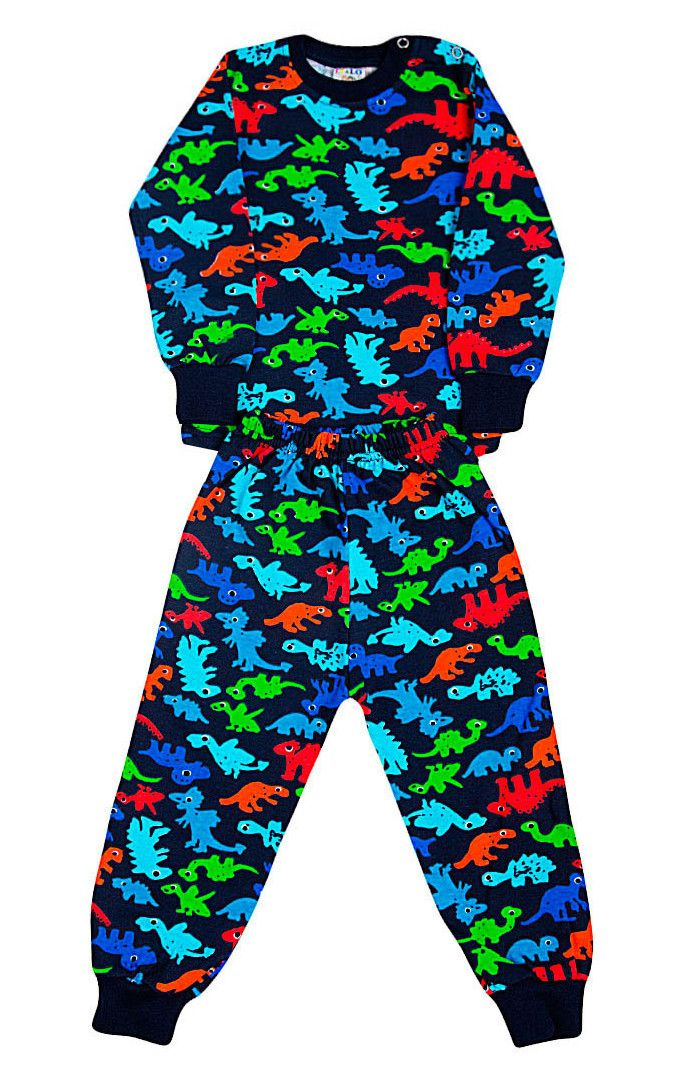 Пижама с начесом темно-синяя