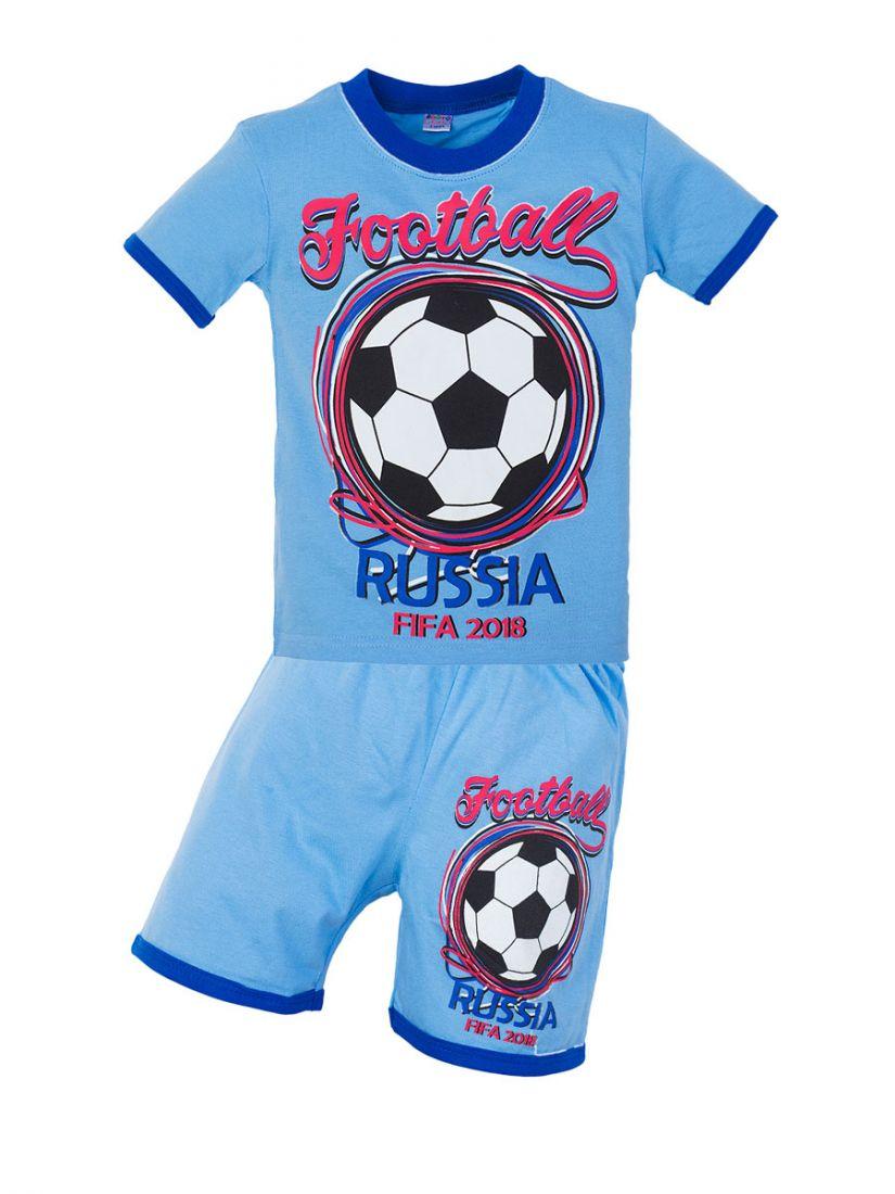 Синий трикотажный комплект Russia FIFA 2018